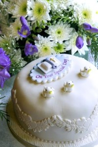 fist communion cake - MacPhees Catering Glasgow